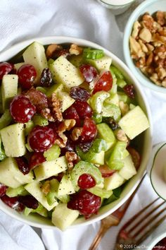 Green Apple Waldorf Salad ciaochowbambina.com