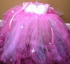Glinda Tulle Tutu Dress Costume for Little Girl on Halloween