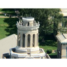 Carnegie Mellon University Hammerschlag Hall smokestack viewed from the 37th floor of the Cathedral of Learning