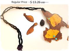 30% OFF SPRING SALE/Leaf Necklace gold forest jewelry by FamDdaear