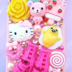 hello kitty iPhoneX 8+ 7+ case ALL models gudetama rilakkuma Barbie decoden  #HelloKitty