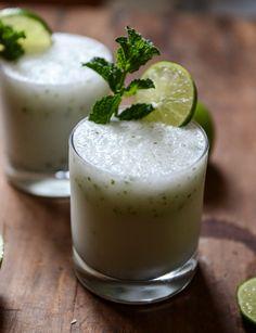 Frosty Coconut Mojitos | howsweeteats.com