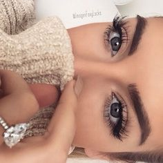 wispy lashes + bold brows