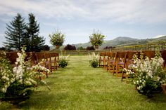 Ceremony lawn, April in wine country