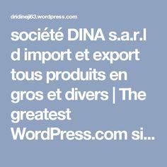 société DINA s.a.r.l d import et export tous produits en gros et divers   The greatest WordPress.com site in all the land!