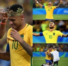 This moment... the day that he won gold for his team...