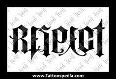 Respect - Loyalty Rose Drawing Tattoo, Tattoo Drawings, Ambigram Tattoo, I Tattoo, Respect Tattoo, Skateboard Art, Skull Tattoos, Skull Art, Hand Lettering