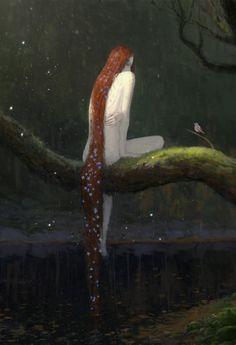 Fantasy Art Watch — Evening by Artem Demura Art Watch, Mermaid Art, Aesthetic Art, Art Inspo, Art Reference, Fantasy Art, Art Drawings, Illustration Art, Creatures