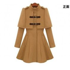 Stand Collar Cloak Shaped Winter Co..
