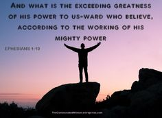 Verse of the Day: Ephesians 1:19 And what is the exceeding greatness of his power to us-ward who believe, according to the working of his mighty power You need to know that if you have been saved,…