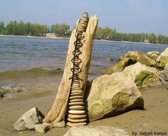 STONE BALANCE AND DRIFTWOOD ART IN HUNGARY BY TAMAS KANYA