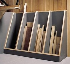 This handy organizer allows you to see at a glance what stock you have available.
