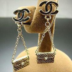 Chanel 2.55 Bag Drop Earrings