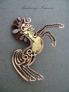 The Beading Gem's Journal: Copper Wire Wrapped and Metal Work Jewelry by Nastiva Jewelry