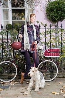 bicycle muse - pretty girl, pretty dog and pretty bike.