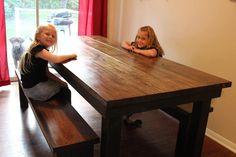 Farmhouse Table  7ft long by JamesAndJames on Etsy, $680.00