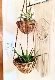 wicker hanging planter - Google Search