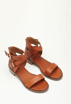 Crisscross Buckled Sandals - Sandals & Flip Flops - 2000079214 - Forever 21 EU