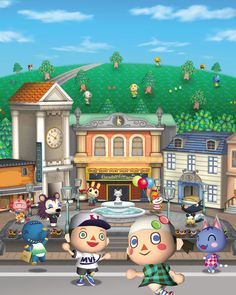 View an image titled 'Promotional Art' in our Animal Crossing: City Folk art gallery featuring official character designs, concept art, and promo pictures.