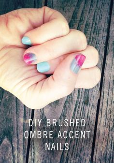 DIY Brushed Ombre Accent Nail Tutorial - Fun Summer Manicure
