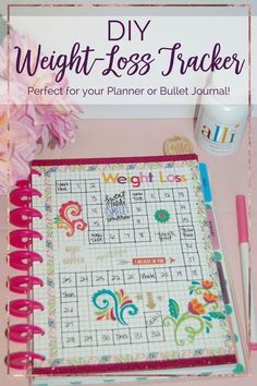 This weight-loss tracker kept me motivated to lose 19 pounds in 2 months! It's the perfect addition to your planner or bullet journal! #alliInMyLife [ad]