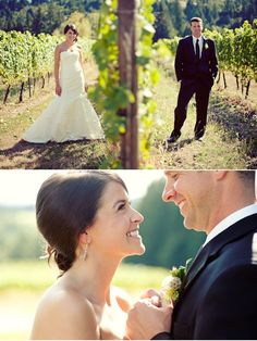 Portland Vineyard Wedding from Blush Bridal Consultation Group | Style Me Pretty