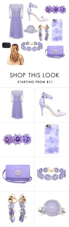 """""""Lavender purple"""" by morganleahc ❤ liked on Polyvore featuring Chi Chi, Steve Madden, Casetify, Metrocity, BaubleBar, BillyTheTree and Hershesons"""