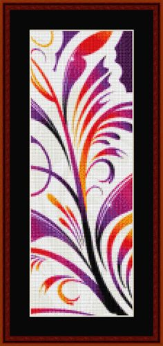 Click to view FREE Fractal counted cross stitch pattern! for july