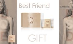 #cofanetto So Nude: so nude eau de #parfum 100 ml, #shower cream 100 ml, #body #lotion 100 ml. Perfetto Best Friend #gift! http://bit.ly/1DK2eJa #profumo #regalo #bellezza