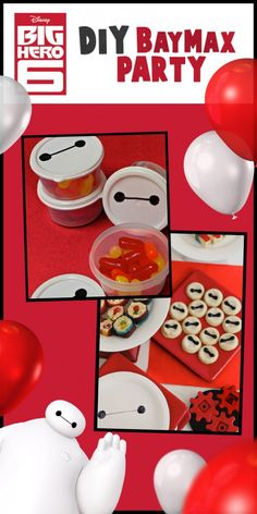 Cute Baymax party treats.  Inspired by Big Hero 6, now available onBlu-ray & Disney Movies Anywhere today.