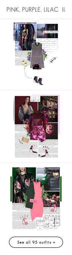 """PINK, PURPLE, LILAC  II."" by eve-angermayer ❤ liked on Polyvore featuring WALL, GUESS, Christian Louboutin, Gucci, Prada, Troy Lee Designs, Chanel, MANGO, FRUIT and River Island"
