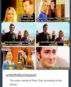 The many names of Rose Tyler... she just takes it in stride