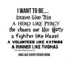 Tris Prior, Percy Jackson, Harry Potter, Hazel Grace, Katniss Everdeen, Thomas