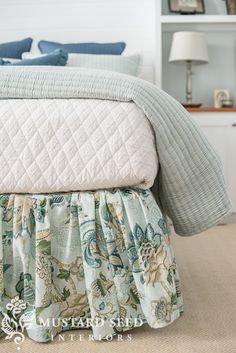 """I had several questions on how to make the ruffled bedskirt I had on the antique iron bed frame, so I thought I would make a tutorial. Bed skirts are the kind of thing I've always preferred to make myself. I feel like most store-bought versions are skimpy on fabric and are rarely exactly the right """"drop"""" or length, so I've opted to make my own for years. Even before I was sewing with any amount of proficiency. This is the kind of thing you can no-sew your way through and no one will ever…"""
