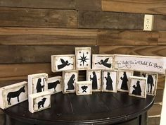 Cut 2x4's into blocks to make this gorgeous nativity scene for your Christmas decor