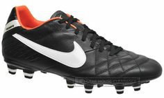 Nike Tiempo Mystic IV FG Mens Soccer Cleats Black Leather, $80 MSRP, New