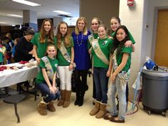 Whitney Wild at Girl Scout World Thinking Day on Saturday. The event was held at Williamsburg School in Arlington, VA. Girls participate in activities and projects with global themes to honor their sister Girl Guides and Girl Scouts in other countries.