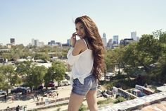 Vivian Vo-Farmer's lace-up shorts looked perfect at SXSW.