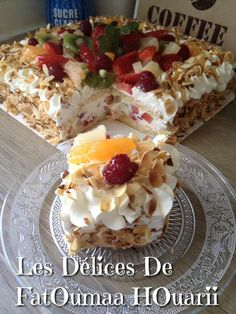Multifruit Cake - The Delices Of FatOumaa HOuariii: Recipe Book Decadent Cakes, Pastry Cake, Cakes And More, No Bake Cake, Cupcake Cakes, Cake Recipes, Cake Decorating, Bakery, Deserts