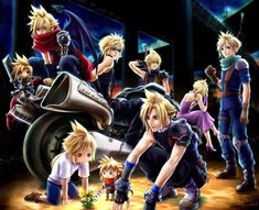 Final Fantasy VII Compilation and Kingdom Hearts. Final Fantasy Funny, Final Fantasy Artwork, Fantasy Love, Final Fantasy Vii Remake, Fantasy Series, Cloud And Tifa, Cloud Strife, Final Fantasy Collection, Gamers Anime
