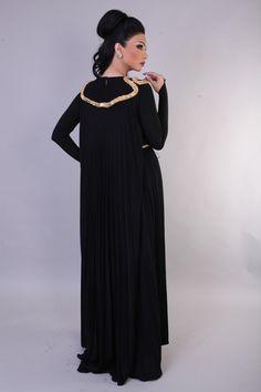 Trio Couture – Fall/Winter Modest Clothing, Modest Outfits, Khaleeji Abaya, Abayas, Hijab Fashion, Fall Winter, Cold Shoulder Dress, Couture, Elegant