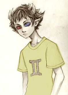 Sollux Captor -- Homestuck. (I like the drawing style so that explains why I posted it on this board)