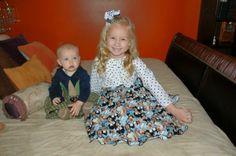 Boy/girl Thanksgiving custom outfits
