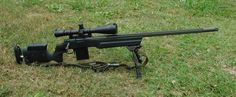Remington 700 .308 with fluted threaded barrel and detach mag.