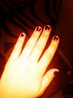 gold tips :) #nails