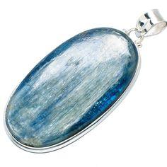 "Ana Silver Co Huge Rare Kyanite 925 Sterling Silver Pendant 2 1/2"" PD603924"