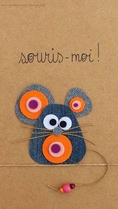 Discover thousands of images about Souris-moi ! Recyclage des pantalons by MyLittleCornerOfTheWorld Jean Crafts, Denim Crafts, Artisanats Denim, Diy For Kids, Crafts For Kids, Fabric Crafts, Paper Crafts, Animal Crafts, Punch Art