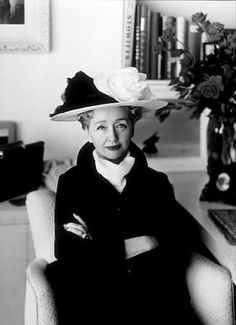 Hedda hopper - Hollywood gossip columnist once known for her outrageous hats.