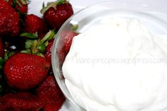 Strawberry dip from Simple Shortcut Recipes