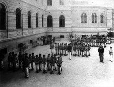 Aula de tiro na Escola Normal - 1901